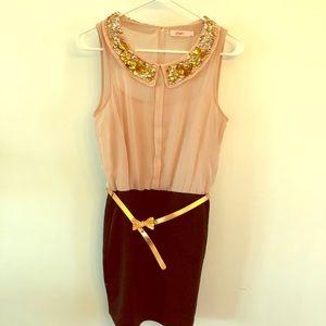 New Ballerina Pink Dress Peter Pan Collar Candies